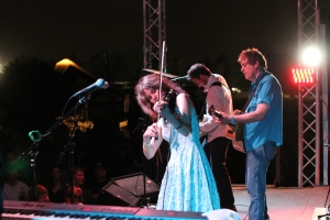 Mary Ramsey, John Lomardo and Jeff Erickson of 10,000 Maniacs last headlined Rock The Barn in 2010.