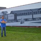 Video: Artist Jeff Perdziak discusses the Main Street Railroad Mural in Clarence Hollow
