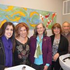 Images from tonight's Renee Oubre art opening at Canvas Salon