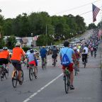 Over 500 bicyclists participate in Friday night's Clarence Pedal Party
