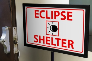 eclipse shelter sign