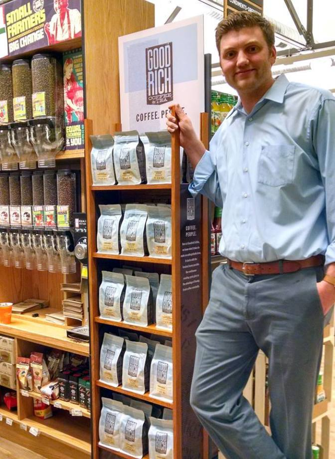EA Coop Coffee Display with Richard