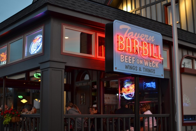 Bar-bill tavern sign